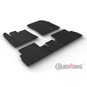 Gumiszőnyegek - Peugeot Rifter (összecsukható anyósülés/ovális rögzítők)