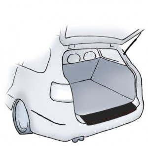 Fekete lökhárítóvédő-fólia Mercedes M-osztály W164