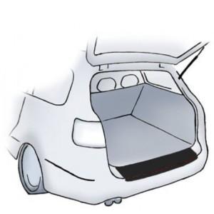 Fekete lökhárítóvédő-fólia Citroen C4 ötajtós